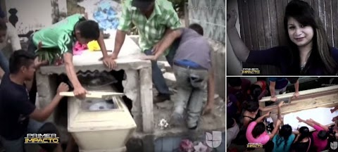 Moment desperate family smashed open tomb of pregnant teenager who woke up screaming and banging on her coffin after being buried ALIVE . . . only for her to die in hospital