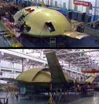 EKIP Tarielka flying saucer UFO russian flying vehicle Lev Shukin