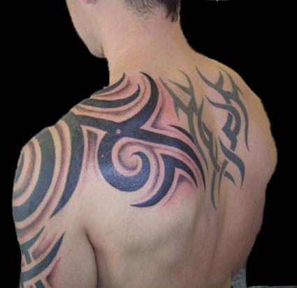 Arm Shoulder Upper Back Tattoo Design For Men Tattoomagz