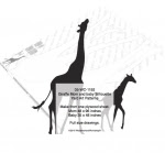 Giraffe Momma and Baby Yard Art Woodworking Patterns - fee plans from WoodworkersWorkshop® Online Store - giraffes,moms,baby,babies,yard art,painting wood crafts,scrollsawing patterns,drawings,plywood,plywoodworking plans,woodworkers projects,workshop blueprints