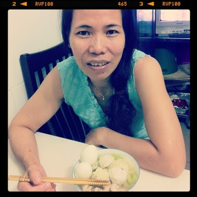 Birthday woman and her longevity noodles! ^^ (Taken with instagram)