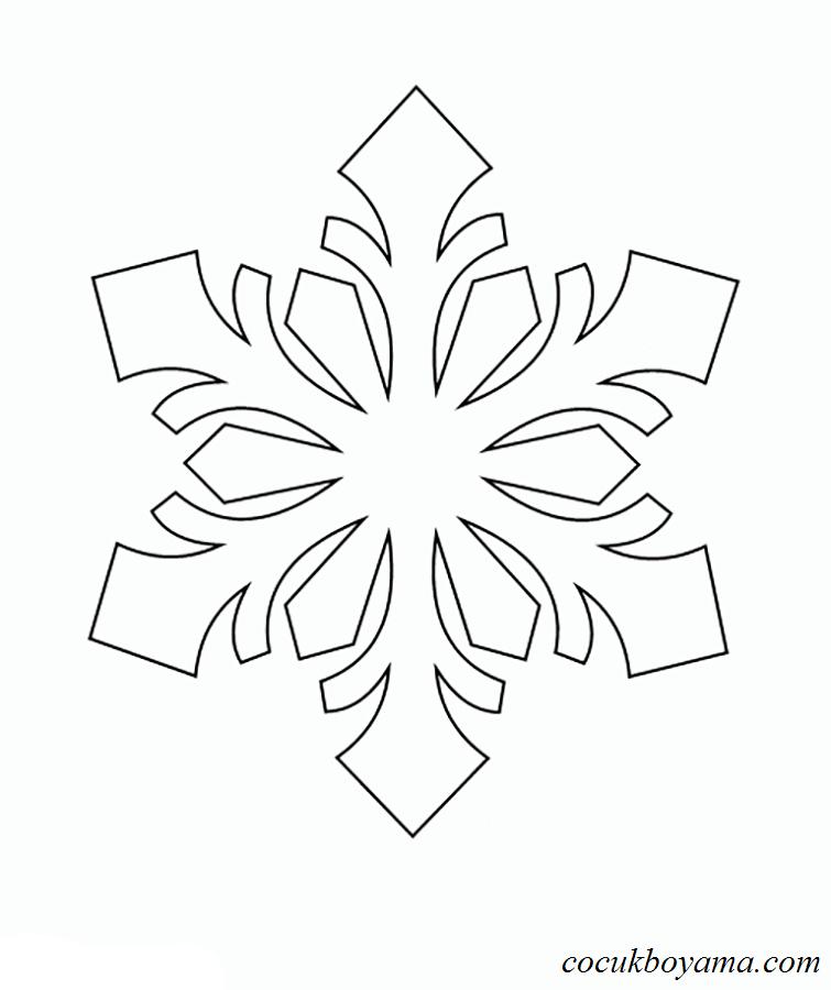 Kar Tanesi 22 ücretsiz Boyama Resimleri