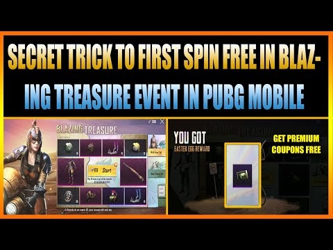 SECRET TRICK TO FIRST SPIN FREE IN BLAZING TREASURE EVENT PUBG MOBILE ||...