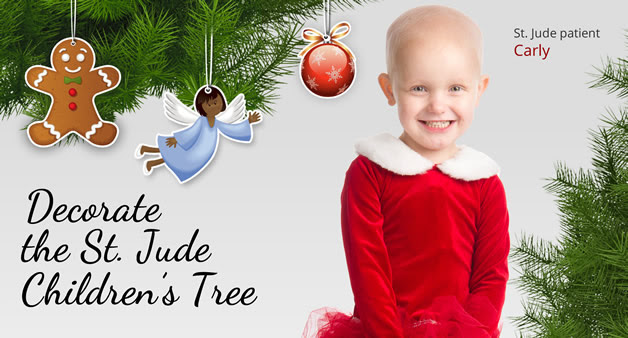 Decorate the St. Jude Children's Tree and brighten the holidays for kids like Carly.