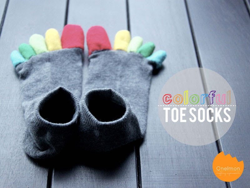 DIY Tutorial: Colorful Toe Socks | onelmon