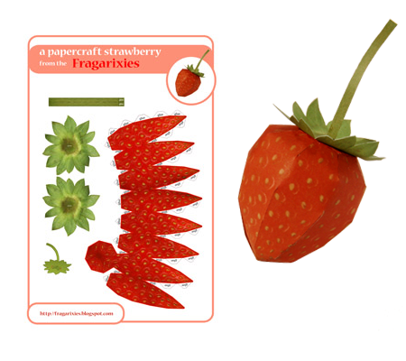 Papercraft Strawberry
