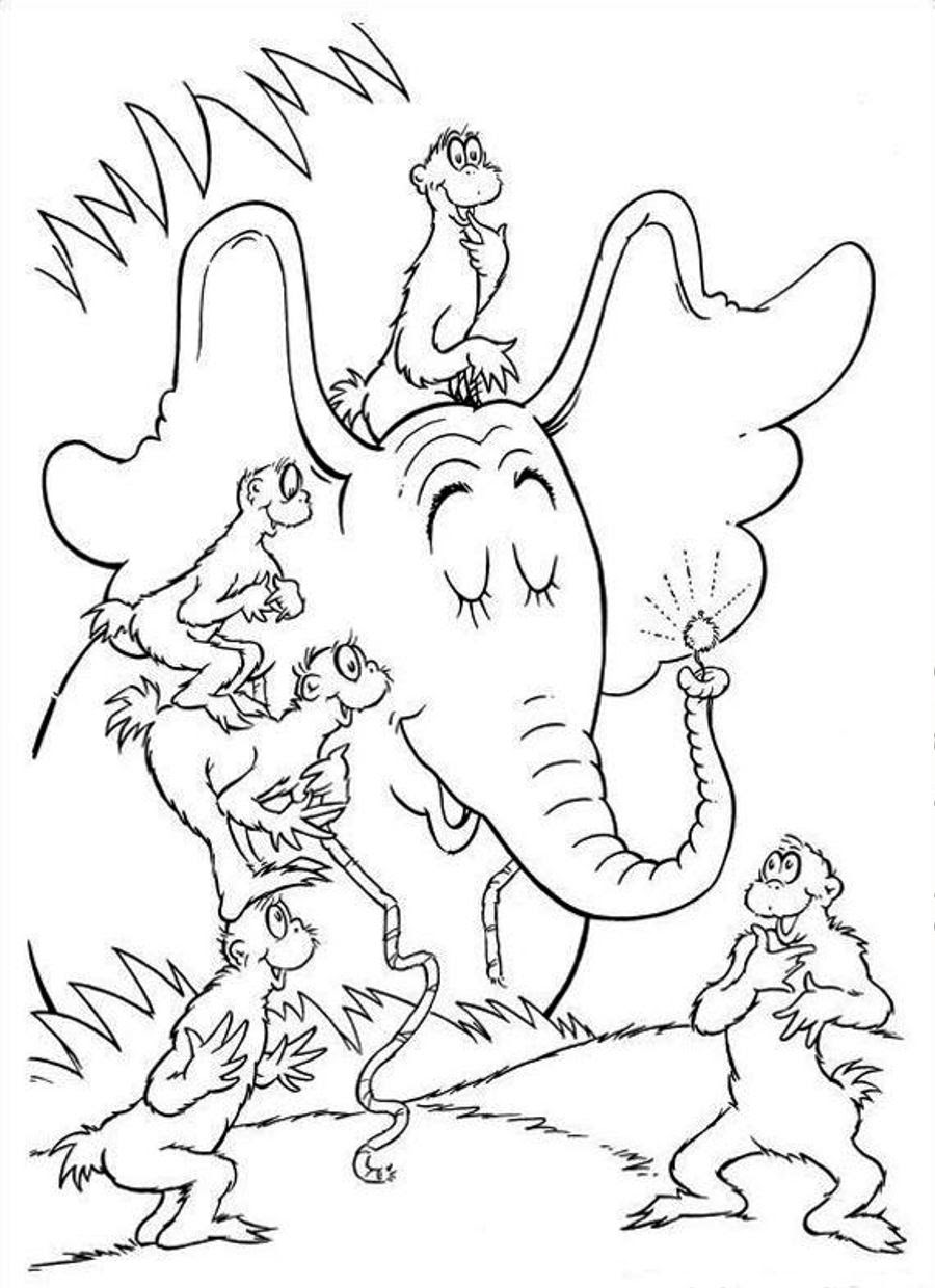 Happy Birthday Dr Seuss Coloring Pages at GetColorings.com ...