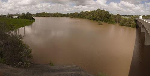 Slacks Creek in flood