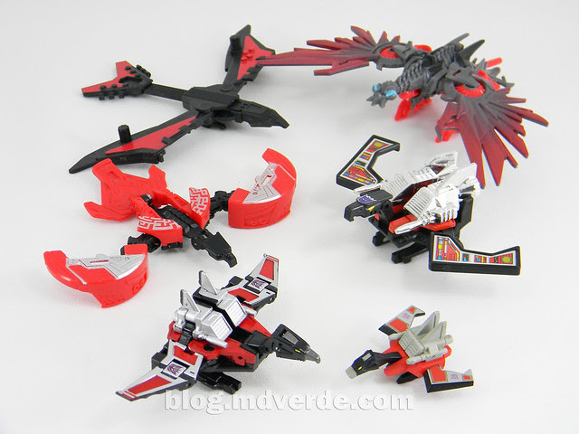 Transformers Laserbeak Masterpiece - modo condor vs otros Laserbeak