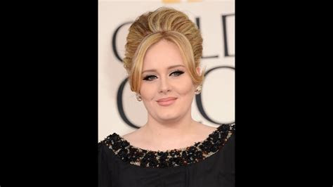 adele oscars   hair tutorial youtube
