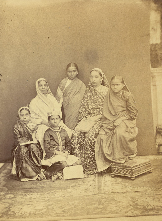 Group of pupils of the Alexandra Native Girls' Institution, Bombay 4636