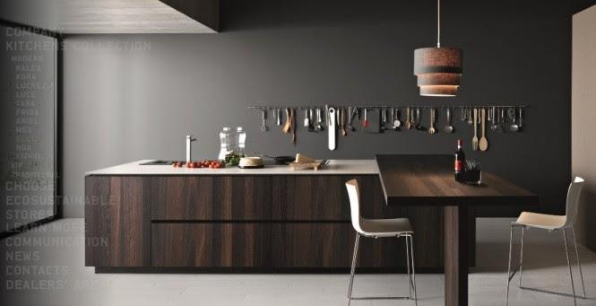 modern coffee kitchen island