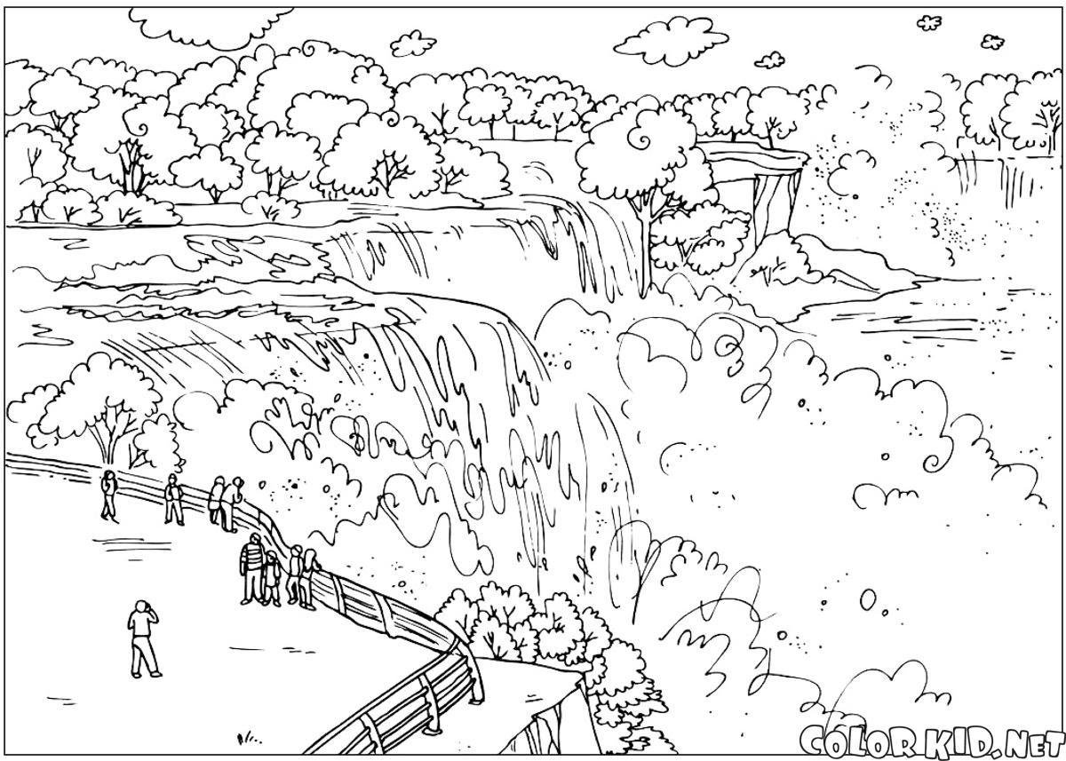 Boyama Sayfası Niagara şelaleleri