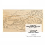 American Muscle Car Mustang Scrollsaw Woodworking Pattern - fee plans from WoodworkersWorkshop® Online Store - Mustang,American muscle cars,scrolling art,wood crafts,scrollsawing patterns,drawings,woodworkers projects,workshop blueprints