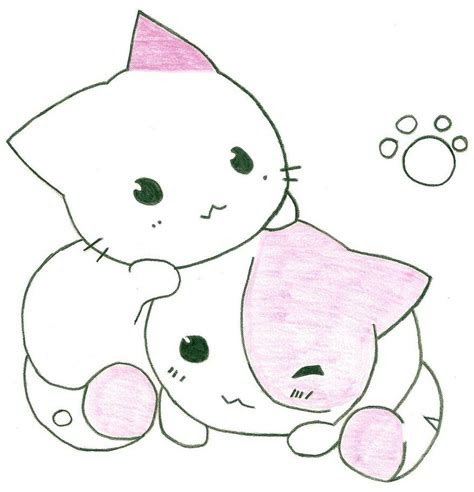 cute anime cat drawing cats  soooo cute   cute