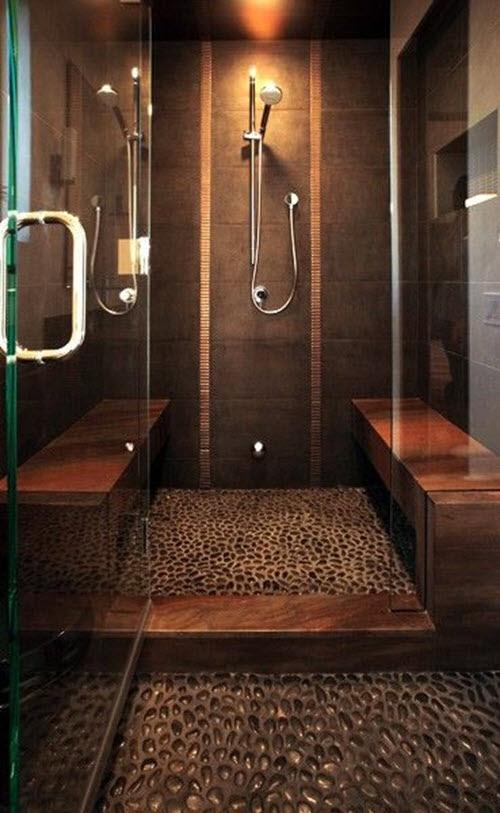 35 dark brown  bathroom  floor tile  ideas and pictures