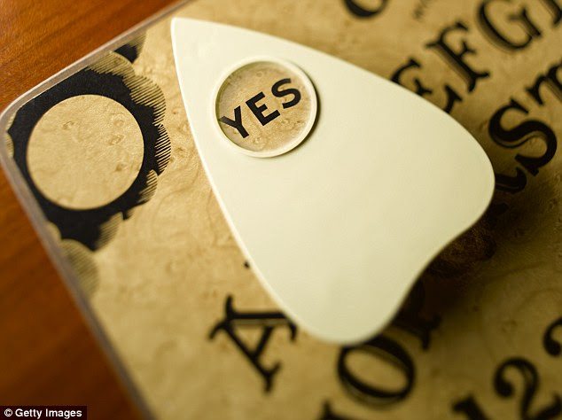 One Redditor explained that the planchette (pictured above) flew off the board as they were using it
