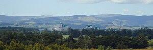English: The Fonterra dairy factory dominates ...