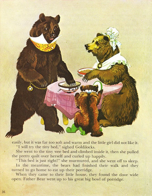 Goldilocks and the Three Bears Vintage Illustration Storybook Print Deans A Book of Fairy Tales 2