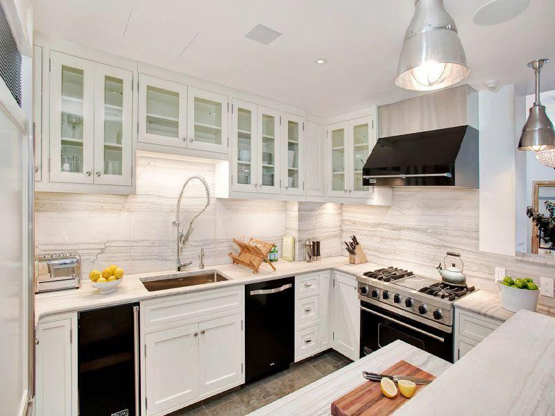 White Kitchen Cabinets with Black Appliances - Decor ...