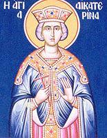 Αγία Αικατερίνα, βίος και πολιτεία