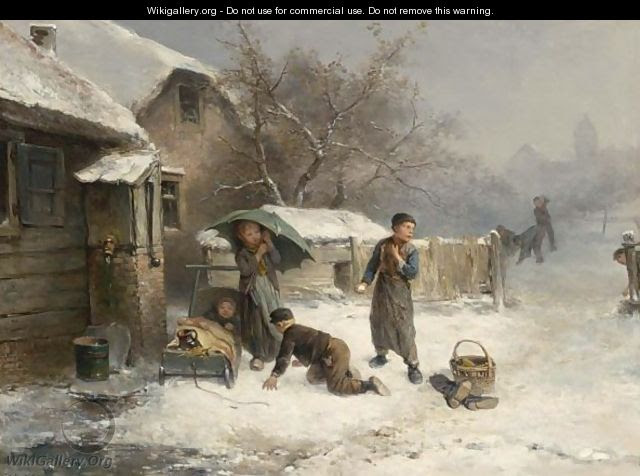 The Snowball Fight - Jan Mari Henri Ten Kate