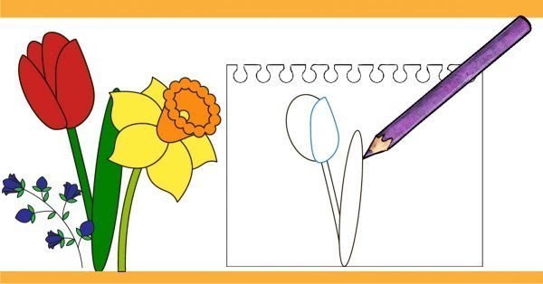 Easy Flower Drawing Tutorial Free Download On Clipartmag