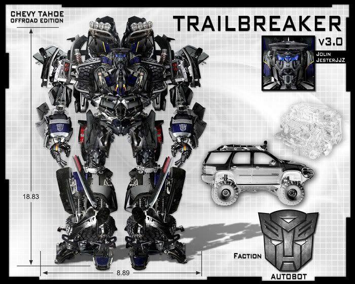 Fan art depicting the Autobot named Trailbreaker.