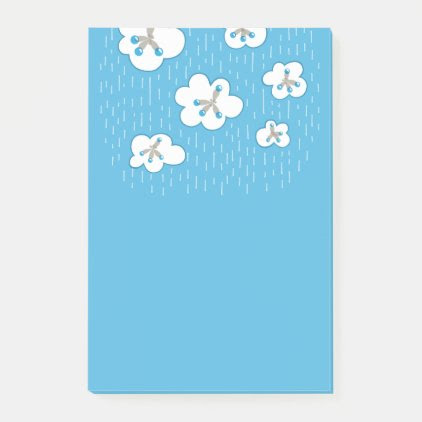 Clouds And Methane Molecules Blue Chemistry Geek Post-it Notes