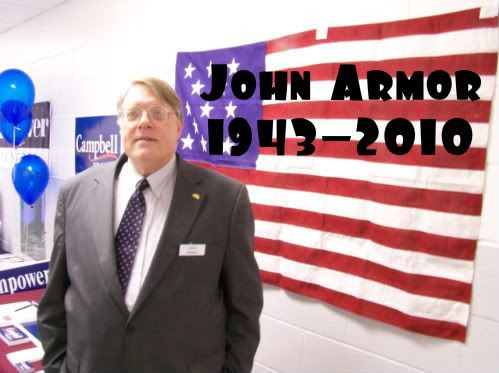 John Armor, Defender of the US Constitution, at the 2008 Macon County GOP Convention. Photo by Bobby Coggins.