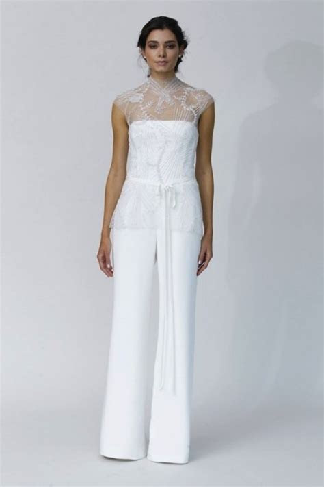 bellos trajes  novias  conjunto de pantalon de alta