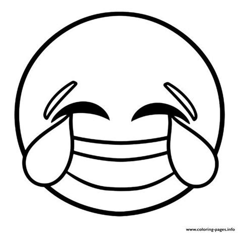 print emoji laughing face  tears  joy coloring pages