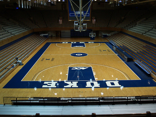 Duke basketball court
