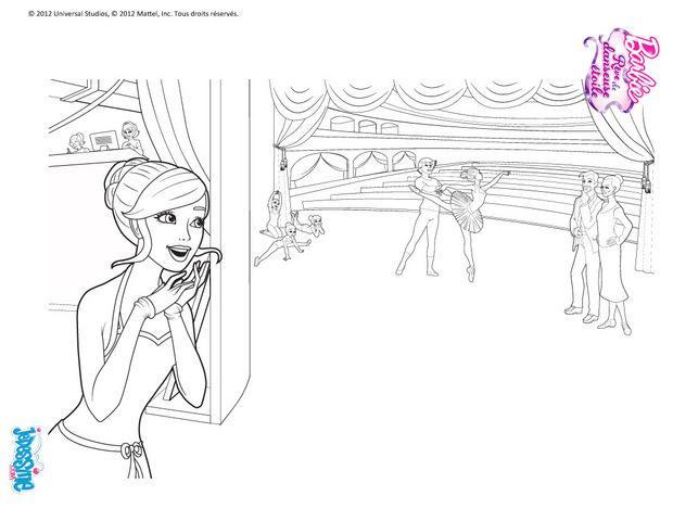 Coloriages Barbie Danseuse à Imprimer Gratuitement Frhellokidscom