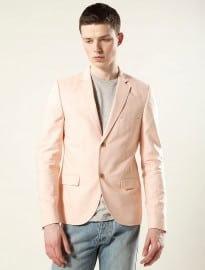 Topman Peach Oxford Skinny Blazer