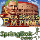 Springbok Casino Goes Back to Ancient Times with May Game of the Month Caesars Empire R2000 Bonus Free Spins and Double Comp Points Now Available