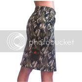 Camo Print Rear Pocket Skirt