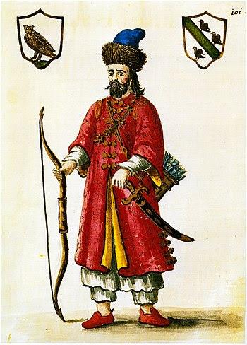 Français : Marco Polo en costume tartare.