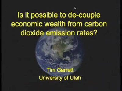 Is it possible to decouple economic wealth from carbon dioxide emission rates