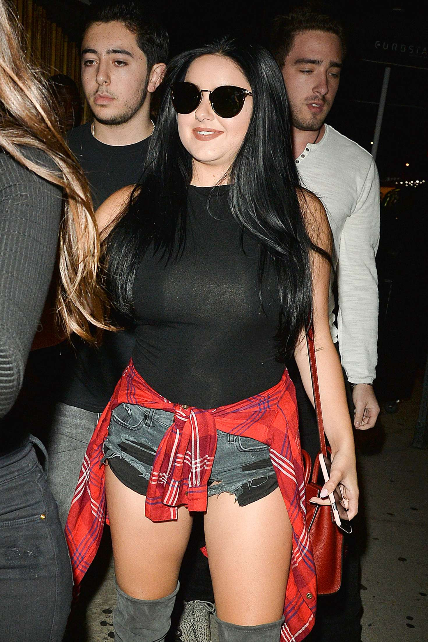 Ariel Winter in Black Shorts at The Nice Guy in West Hollywood