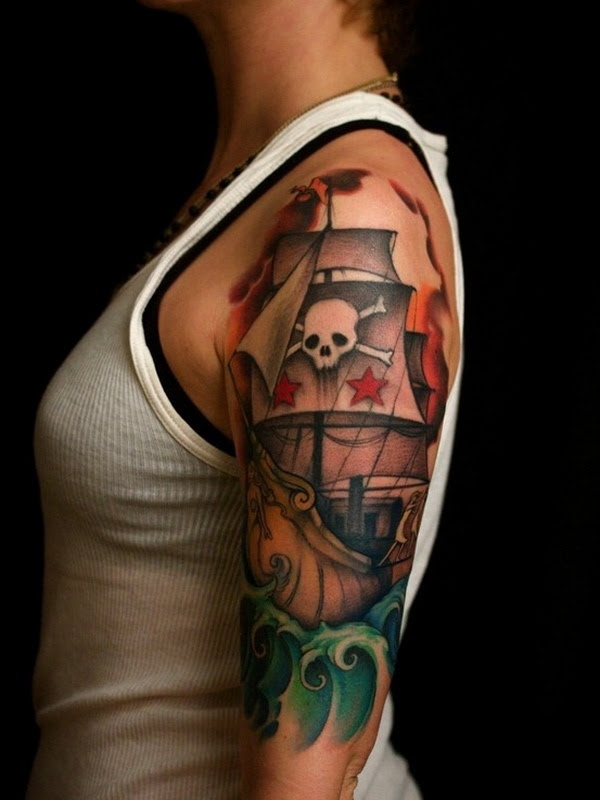 75 Amazing Masterful Pirate Tattoos Designs Meanings 2018