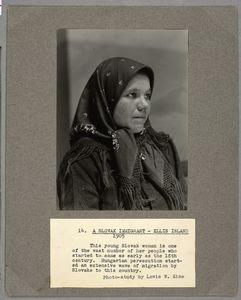 A Slovak Immigrant, Ellis Isla... Digital ID: 212079. New York Public Library