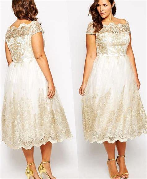 Plus size short wedding dress   PlusLook.eu Collection