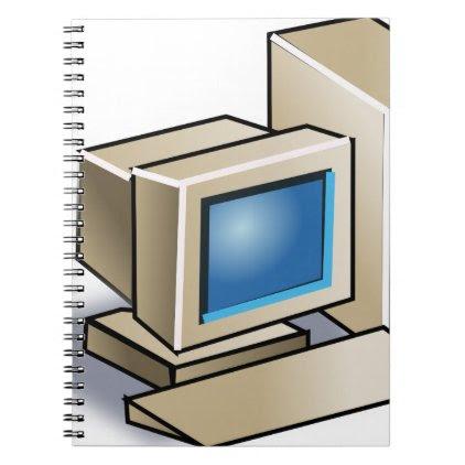 Retro Computer Spiral Notebook