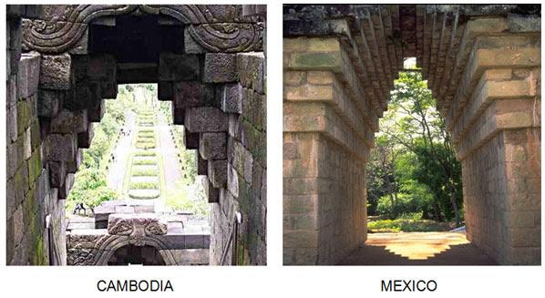 παράλληλες μεταξύ Χμερ και των πολιτισμών των Μάγια