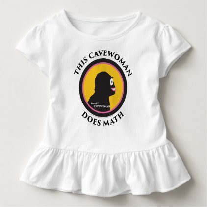 Toddler Ruffle This Smart Cavewoman Does Math Toddler T-shirt