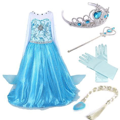 Girls Disney Elsa Frozen dress costume Princess anna party