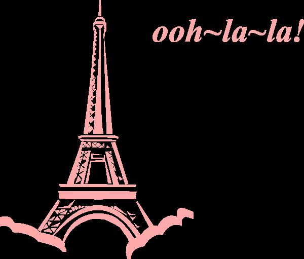 Pink Eiffel Ooh La La Clip Art At Clker Com Vector Clip Art Online Royalty Free Public Domain