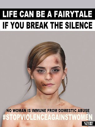 Alexsandro Palombo says the goals with his images is to persuade all victims of abuse to break the silence denouncing their situation and raise awareness on the fact that all women can be victims of abuse