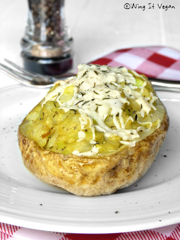 Cheesy Twice-Baked Taters with Leeks and Dill